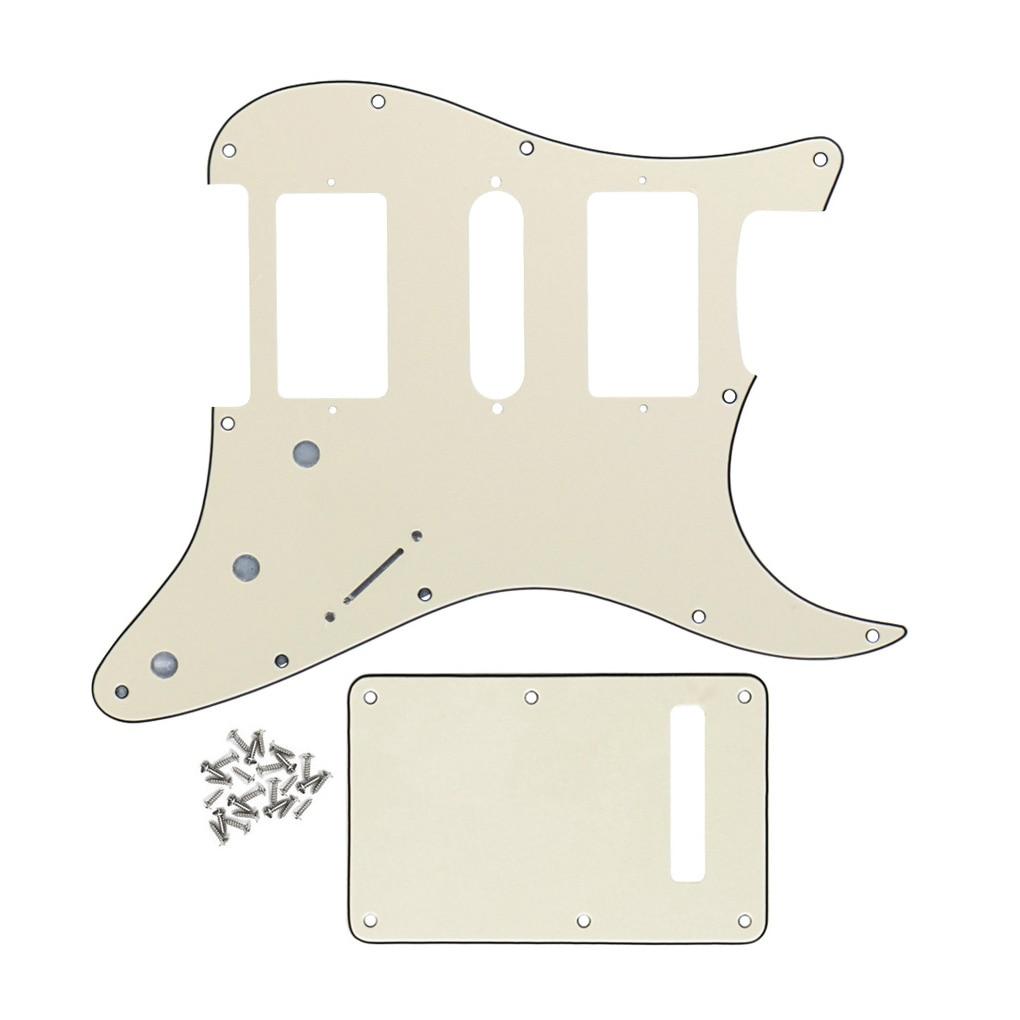 buy new set of guitar parts replacement guitar pickguard hsh back plate. Black Bedroom Furniture Sets. Home Design Ideas