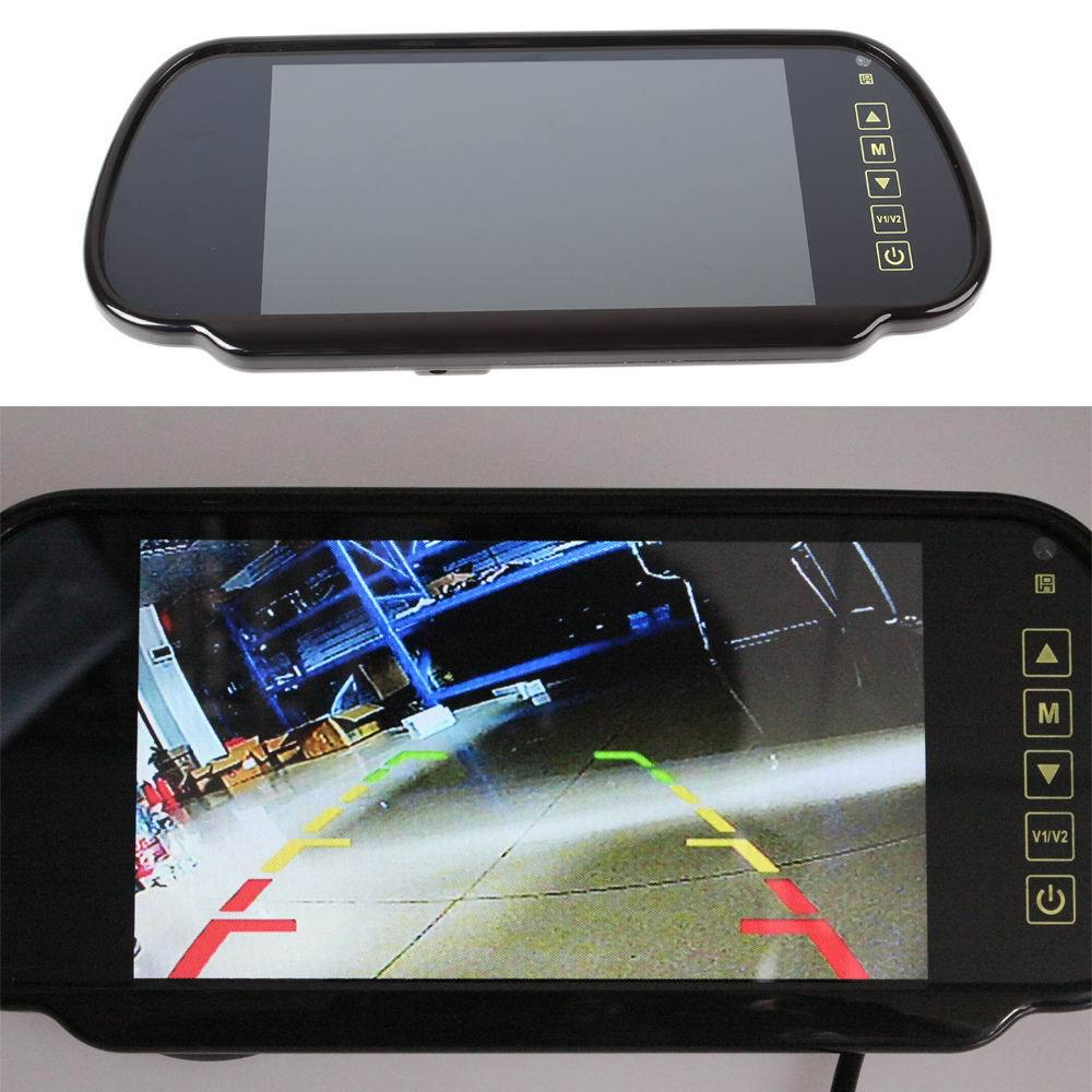 7inch tft lcd car rear view mirror monitor auto vehicle. Black Bedroom Furniture Sets. Home Design Ideas