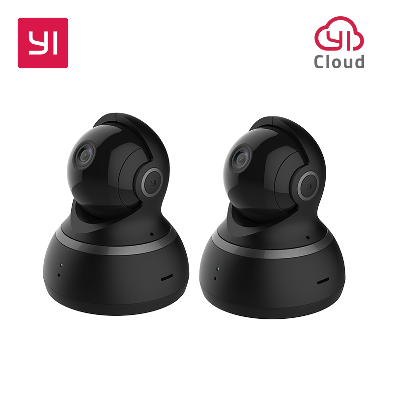 YI купол Камера 1080 P панорамирования/наклона/зум Беспроводной IP Cam WI-FI видеонаблюдения Системы 360 градусах ночное видение EU/US 2 шт.