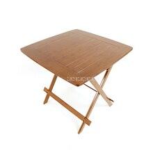 Китайская бамбуковая мебель обеденный стол квадратный 80 см открытый/закрытый садовый стол ноги складной обеденный стол бамбуковая древесина