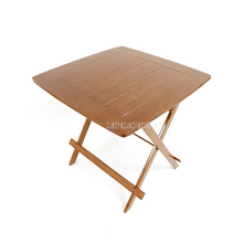 Chinese Bamboo Furniture Dining Table Square 80cm Outdoor/Indoor Garden Table Legs Foldable Folding Dining Table Bamboo Wood