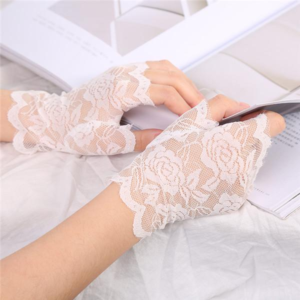 Out Gloves Delicate Lace Pattern Lace Gloves Wedding Gloves 1