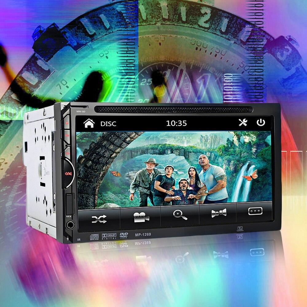 imágenes para 2 Din Coche Reproductor de Vídeo Apoyo Cámara de Visión Trasera de DVD 7 ''HD de Pantalla Táctil de Bluetooth Estéreo de Audio Del Coche de Radio Auto electrónica
