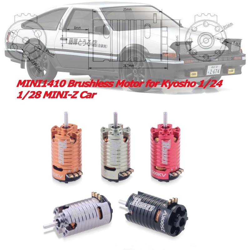 MINI 1410 Brushless Motor 2500KV 3500KV 5500KV 7500KV 9500KV for Kyosho Mr03 Pro Atomic DRZ 1/24 1/28 1/32 RC Mini Z Drift CarParts & Accessories   -