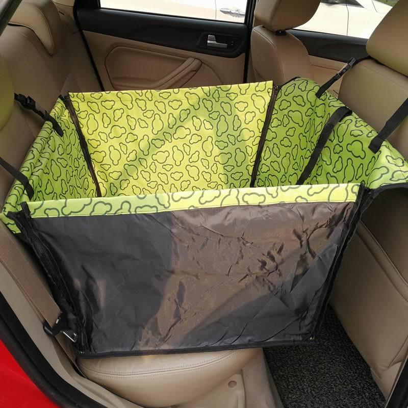 CAWAYI KENNEL PVC Waterproof Small Pet Dog Cat Car Seat Cover Mat Blanket Rear Back Dog Car Seat Protection Hammock D0041 7