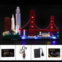 Kit d'éclairage LED d'éclairage pour Architecture San Francisco Compatible avec 21043 (non inclus le modèle)
