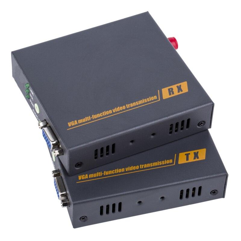 DT206F VGA трансивер VGA к волоконно оптический удлинитель одиночный режим SC волокна трансивер промышленные передачи 20 км