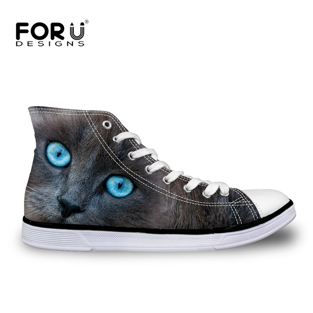 0d6ba6915a FORUDESIGNS Casual Women High Top Canvas Shoes