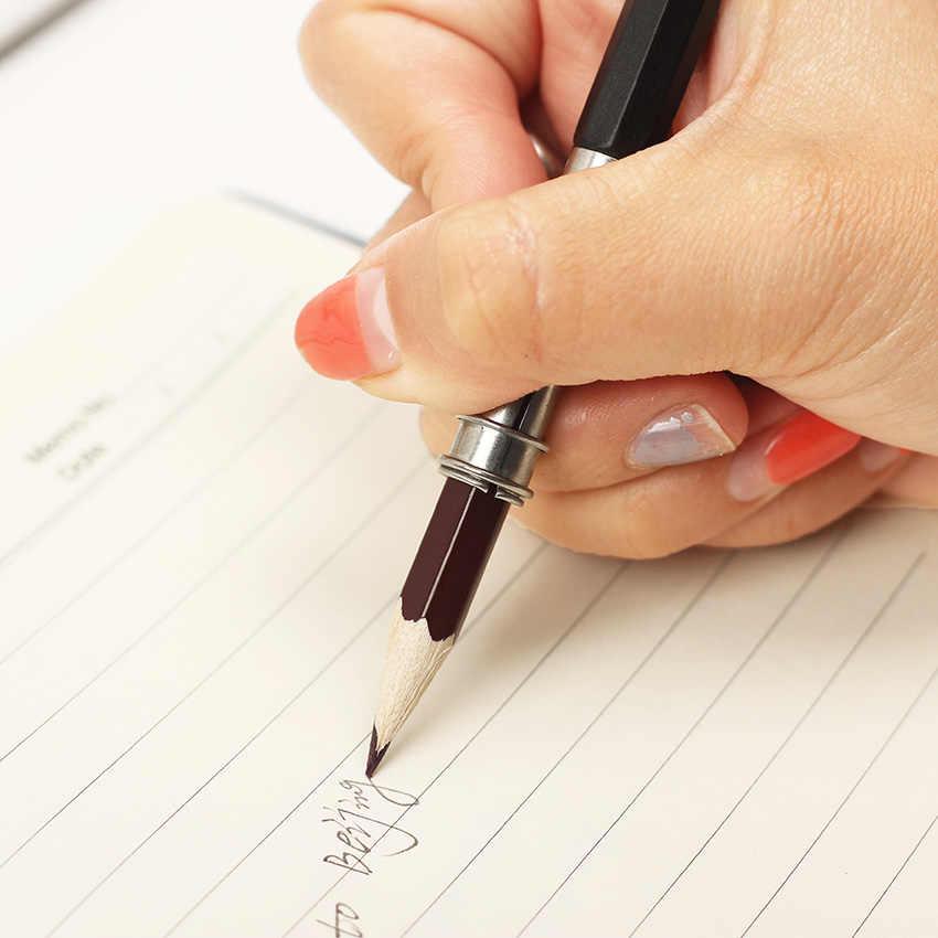 חדש מתכוונן כפולה ראש עיפרון Extender מחזיק סקיצה אמנות לכתוב כלי בית ספר ציוד משרדי
