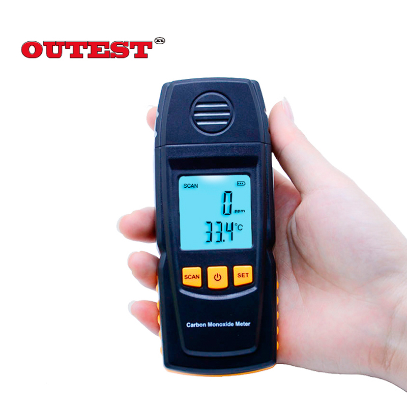 GM8805 Carbon Monoxide Meter with High Precision CO Gas Tester Monitor Detector Gauge 0-1000ppm