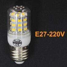 Высокая мощность bombillas СВЕТОДИОДНЫЕ Лампочки E27 220 В лампы освещения кукурузы кукурузы лампы для спальни SMD5730 24 30 38 48 56 69 светодиодов стол лампы