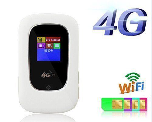 все цены на  Unlocked Pocket100Mbps 4G LTE Mobile WiFi Hotspot 3G 4G WiFi Router with SIM slot  онлайн