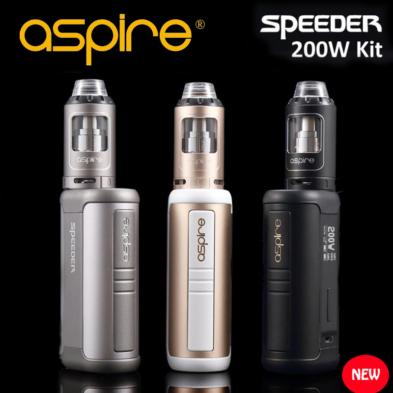 Aspire Speeder 200W mod kit electronic cigarette box mod kit Full e cigarettes kit smoke vaper electronic cigarette Vaporizer 30w safety electronic cigarette mini mechanical pole smoke suit steam smoke portable authentic electronic cigarette