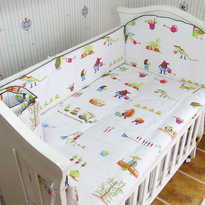 Promotion! 5PCS Baby Bedding Set Baby cradle crib cot bedding set cunas Crib Cot Sheet ,include:(bumpers+sheet)