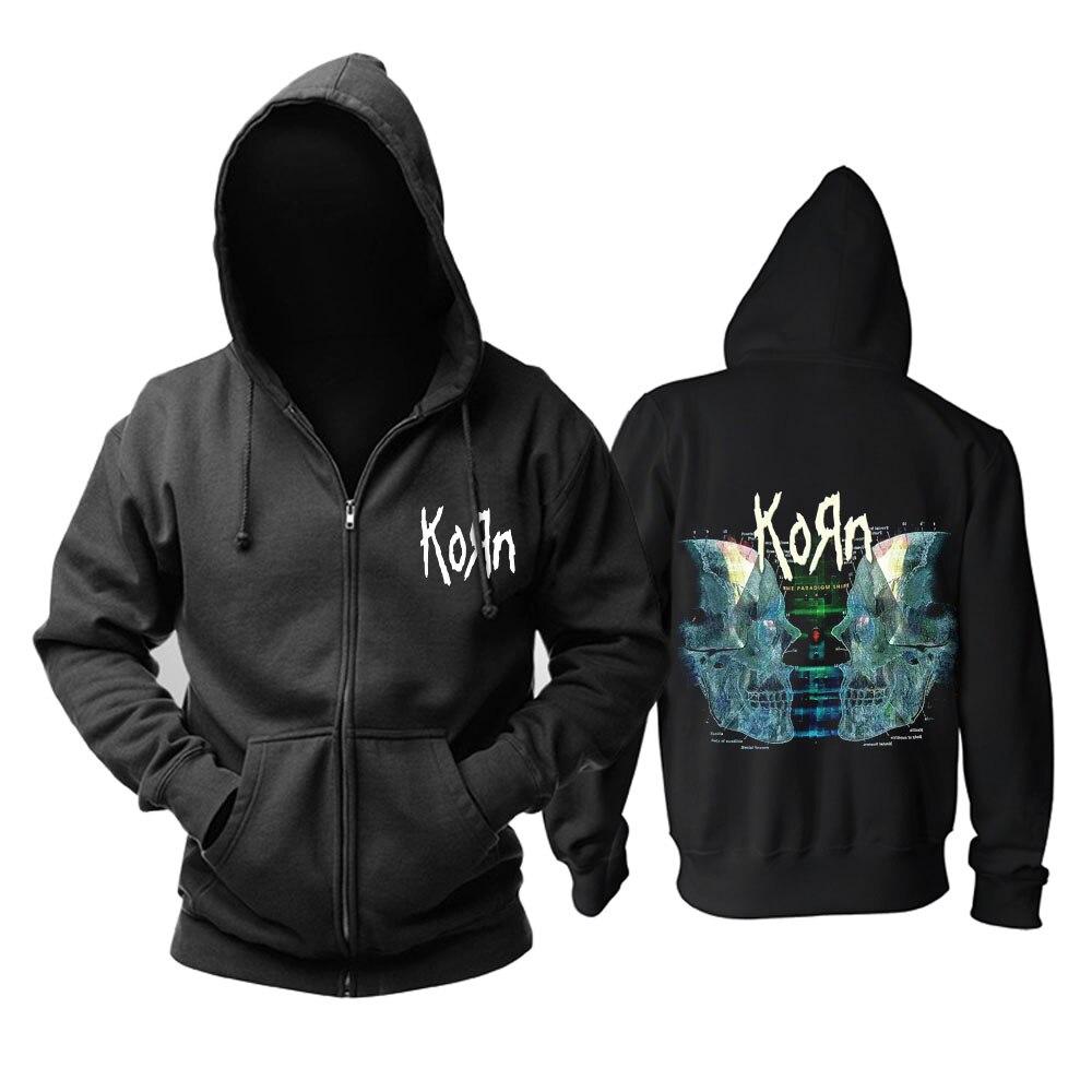 Frete grátis Korn Doente/coming undoneand capa do álbum Torcida Tour Rocha dos homens moletom com capuz preto