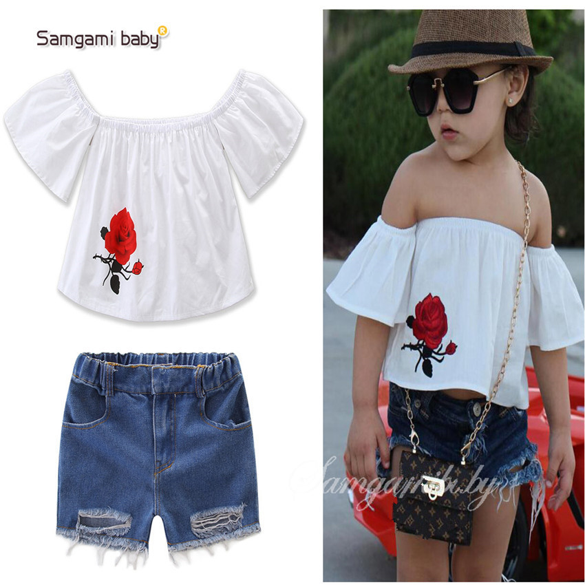 2017 fashion Girl's Clothing Sets summer Brand baby girl ...