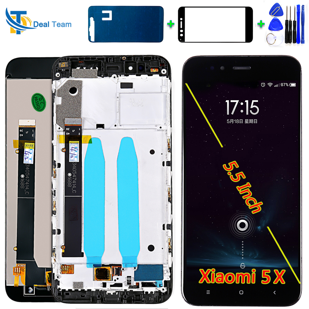 AAA Quality IPS LCD Display For Xiaomi Mi 5X Touch Screen For Xiaomi MI A1 Digitizer Assembly Frame With Free Glass Film Tools
