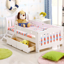 Children Beds kids Furniture home Furniture solid wood kids bed with 2 drawers lit enfant baby nest moveis muebles 168*88*30 cm(China)