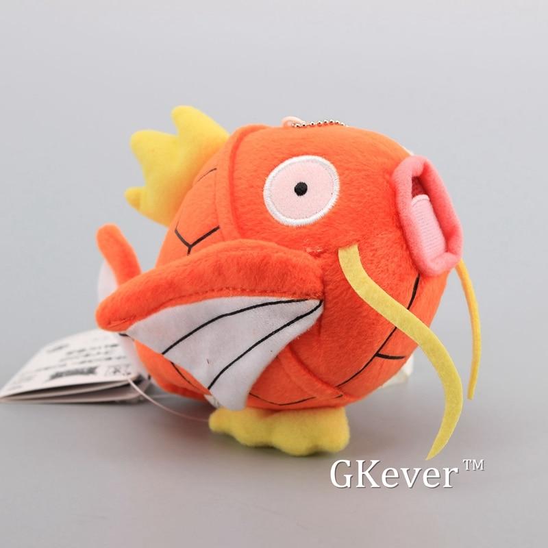 High Quality Cute Mini Magikarp Plush Pendant with Keychain Soft Stuffed Animals 615 cm Children Gift