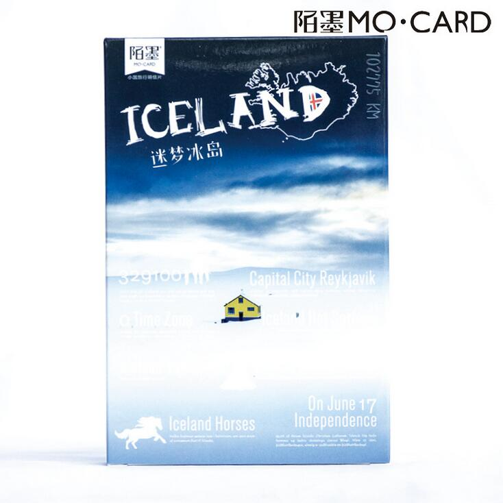 30 pcs/pack Iceland Sea Snow Scene Geography Card Greeting Card Postcard Birthday Letter Envelope Gift Card Set Message Card 30 sheets set novelty parallel universe postcard greeting card message card birthday letter envelope gift card