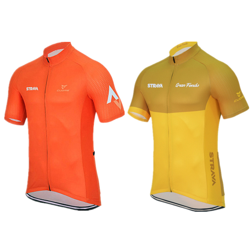 Ropa ciclismo Cycling clothing Jersey Summer style Men Mtb/cycling jersey/Cycling Clothes short Sleeve jersey orange yellow - Store No.1213130 store