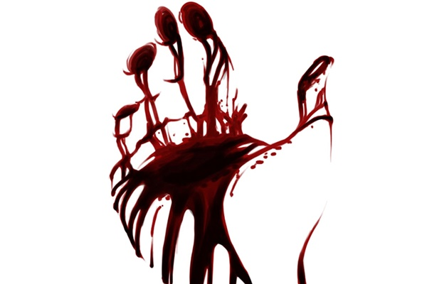 blood paint hand asking for help abstract artwork 5 Sizes Home Decoration Canvas Oil Painting Poster Printing Wall Pictures