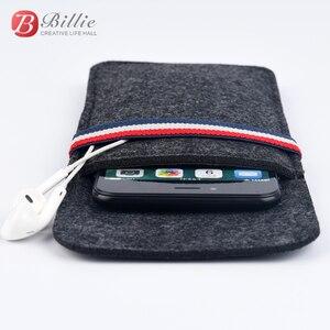 """Image 3 - Für Apple iphone 6 6 s 7 8 4,7 """"Ultra dünnen Handgemachten Wollfilz telefon Hülsen abdeckung Für iphone 6 6 s 7 8 plus 5,5"""" stoßstange Handytasche"""