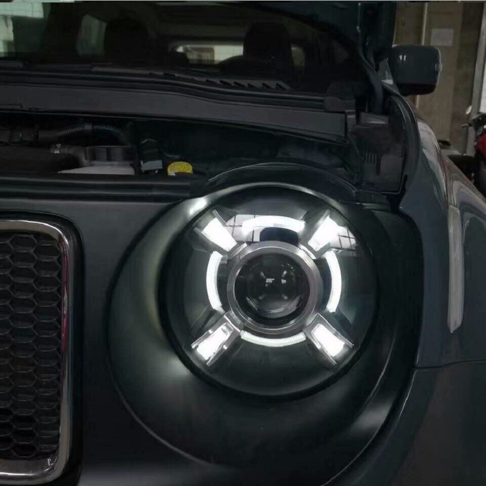 For 2015-2017 Jeep Renegade HID LED Headlight with DRL and Bi-xenon Projector Right & Left Composite headlight free shipping h4 car headlights for 2015 2017 jeep renegade hid headlight with drl and bi xenon projector