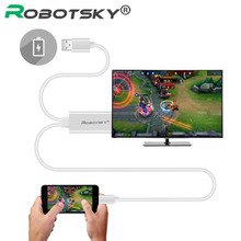 2 м USB HDMI кабель для iPhone 5 5S 6 6S плюс 7 IPad к HDMI Кабо 1080 P 8 pin для HDTV Разъем для iPhone к HDMI адаптер медиа