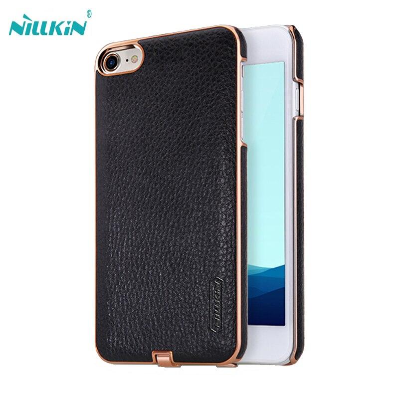 imágenes para Para el iphone 7 Caso 7 plus Nillkin N-Jarl Transmisor de Carga Inalámbrica Receptor Caso de Carga de Energía de Cuero de LA PU + Caja de la PC