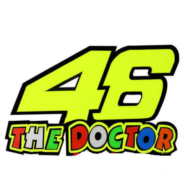 Removable Rossi Motorcycle 46 The Doctor Sticker Vr46