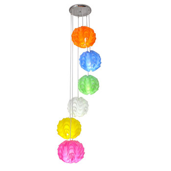 droplight of contemporary and contracted hall droplight The stairs droplight PVC wave ball sitting room light