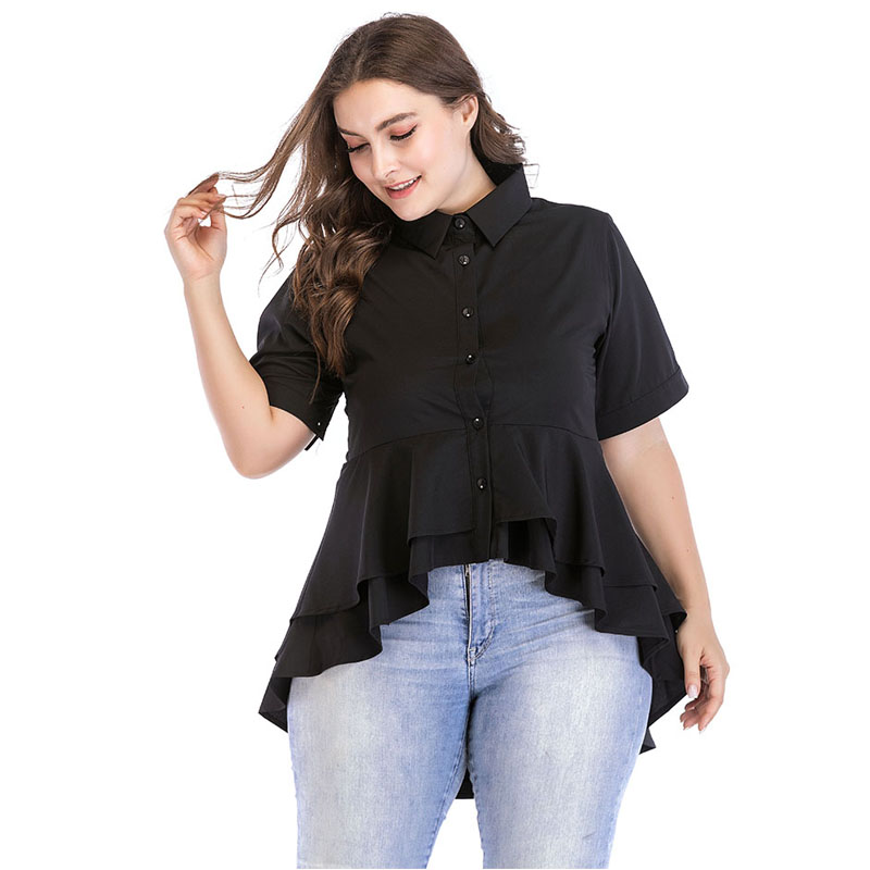 0ecd79abef278 Plus Size 6XL Ruffle Tops Blusas Mujer Verano 2019 Summer Woman Blouses  Kimono Mujer Blouse Femme Shirts Casual Camisetas Mujer-in Blouses   Shirts  from ...