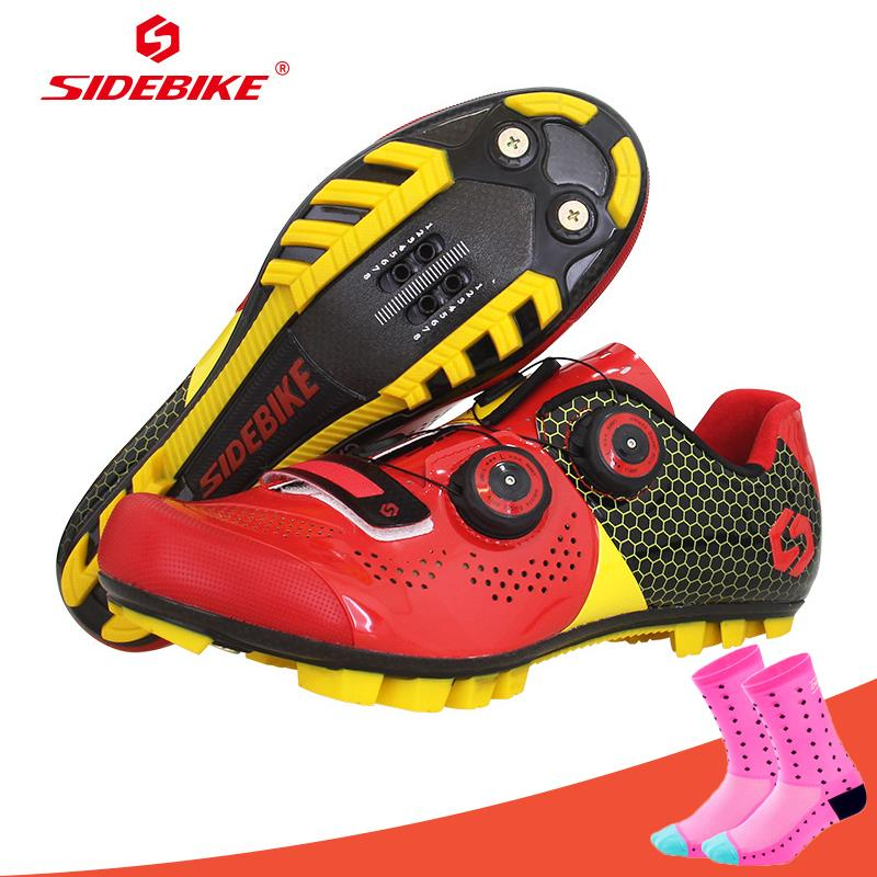 Sidebike Cycling Shoes Carbon Fiber Mountain Bike Shoes Men MTB Self-Locking Athletic Racing Ultralight Breathable Bicycle Shoes sidebike mtb bike shoes carbon fiber cycling shoes men breathable non slip self locking road bike shoes bicycle sneaker shoes