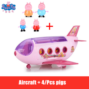 Image 2 - Peppa Pig Anime Figure Doll House Toy Picnic Sports Car Peggy Family Action Figures Birthday Gift Toys for Children