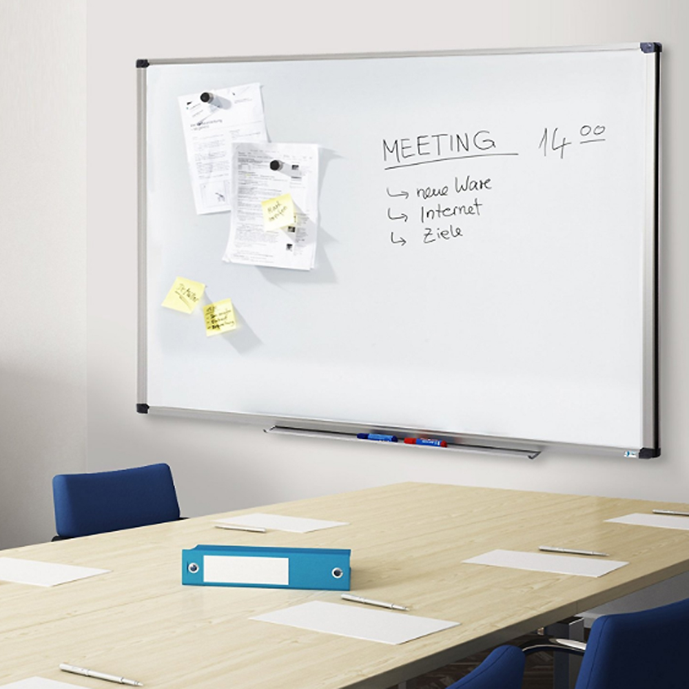 "90x60cm(36x24"")Magnetic Dry Erase Whiteboard Aluminum Framed Protective Whiteboard With Anti-scratch Surface"