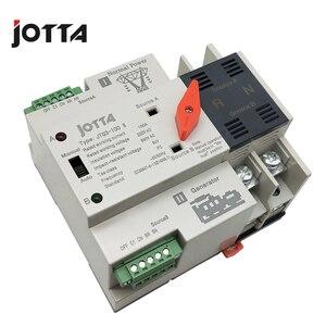 Image 3 - Jotta W2R 2P 110 V/220 V Mini Ats Automatische Overdracht Schakelaar 100A 2P Elektrische Selector Schakelaars Dual Power schakelaar Din Rail Type