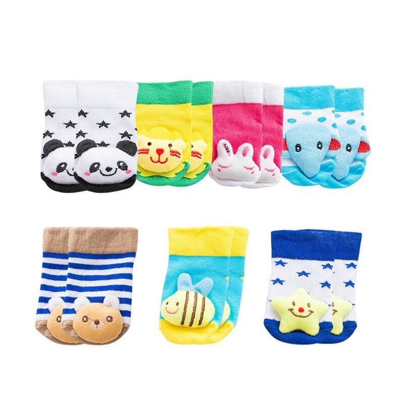 2018 Cute Animal Baby Socks Non-slip Sock for Baby Girls Boys Cartoon Newborn Kids Socks Children Baby Cheap Stuff
