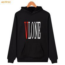 Vlone Hoodies Men 4XL Skateboard Fashion Hip Hop Hoodies Men A$ap Streetwear 2017 Winter Korean Men Fashion Sweatshirt XXS