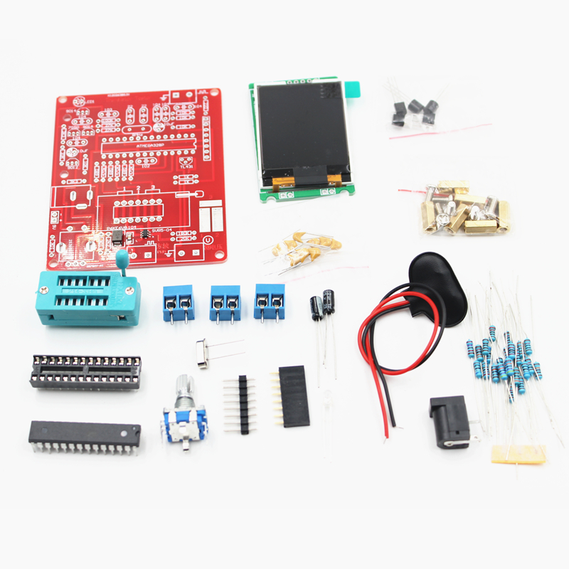 Color : Package 1 SHIZHI Multifunctional Tester GM328 Transistor Tester Diode Capacitance ESR Voltage Frequency Meter PWM Square Wave Signal Generator