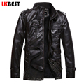 2017 New winter jacket men casual mens leather jackets and coats pu leather suede wool liner motorcycle jacket men (PY17)