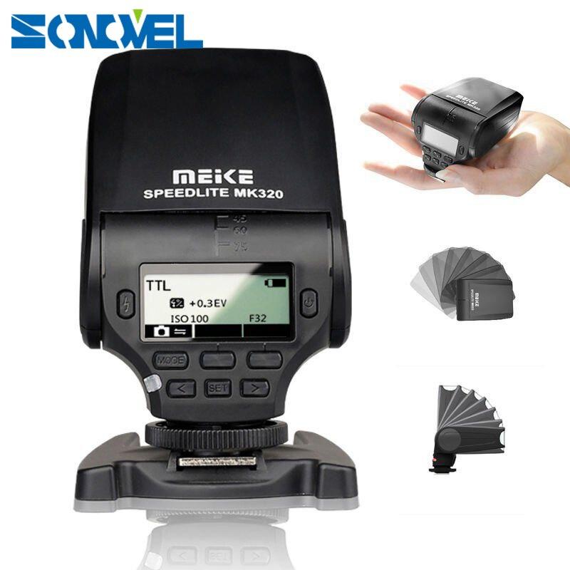 Meike MK-320 GN32 TTL griffe porte Flash Speedlite pour Canon EOS M3 M5 M6 1300D 800D 760D 750D 77D G15 G16 GX5 G3X G1X SX60