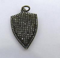 6pcs 20 40mm Micro Pave Diamond ArrowHead Pendant Shield Pendant Pave diamond Pendant