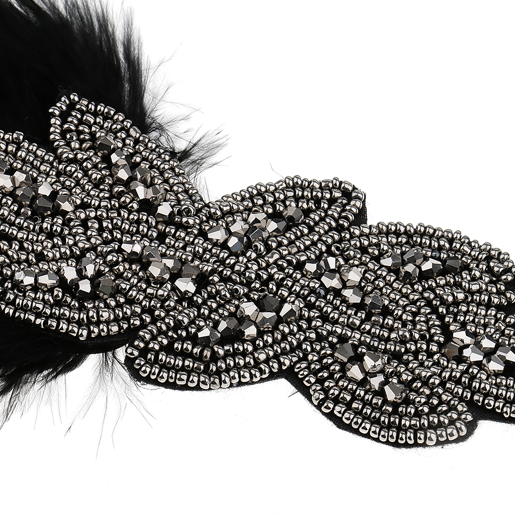 1920s Great Gatsby Feather Headband Wedding Ascot Race Party Hair Accessory
