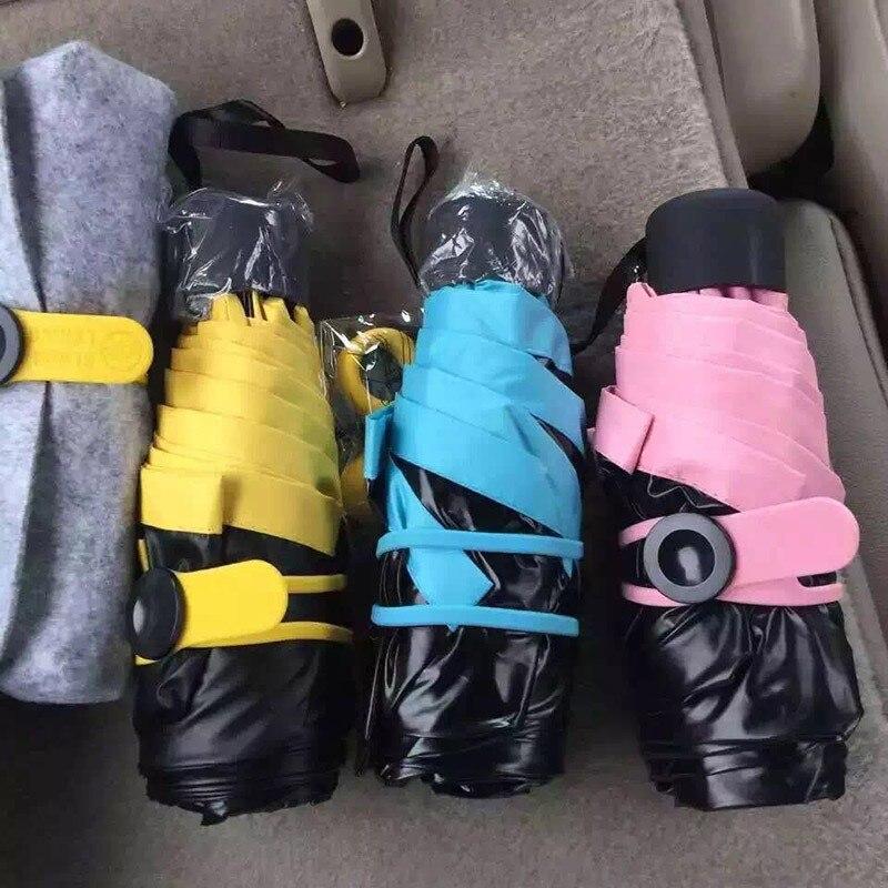 Новый мини складной Портативный зонтик Алюминий сплава сильный Рамки три складной Зонты для путешествий метеорные потоки