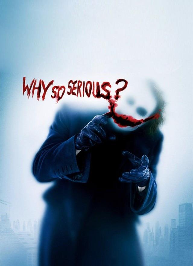 Free Shipping Custom Poster Fashion Home Decoration Batman_joker Why so Serious Wall Sticker ...