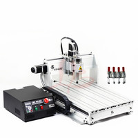 600X400mm Working Size LPT Port Cnc Router Woodworking 6040 800W Water Cooled Spindle 3D Engraving Machine