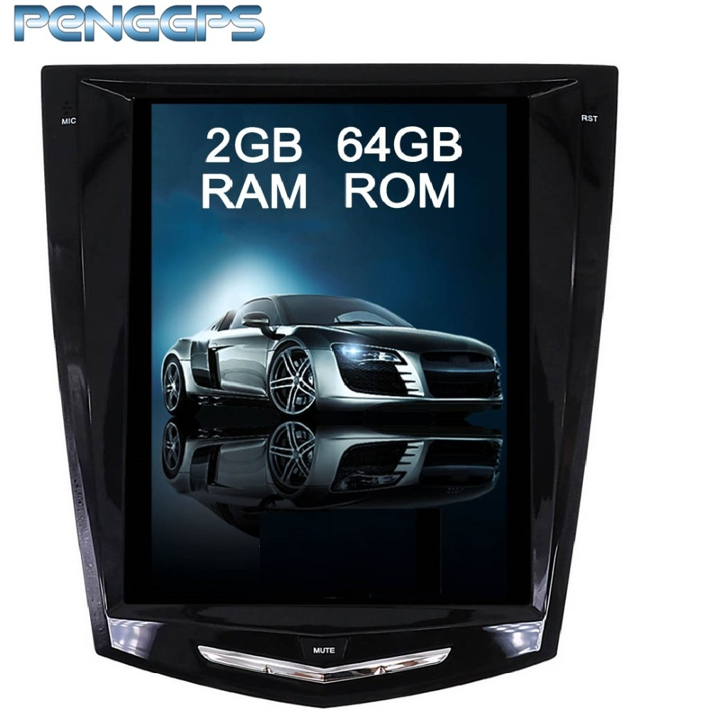 4 Core Tesla Style 10.4 Inch Android 6.0 Car GPS Navigation DVD Player Unit for Cadillac ATS/ATSL/XTS/SRX 2013 2017Seat Heating