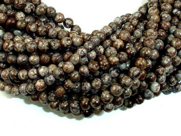Thời trang Diy Loose hạt 4 mét 15.5 inch Đầy Đủ strand Khoảng 97 Lỗ 1 mét Tuyết Bông Tuyết Obsidian Hạt Vòng Cổ