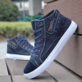 Spring Autumn Fashion Flat With Men Casual Shoes Lace-Up Canvas Breathable Flats Espadrilles High help Male Shoes 0.9/2